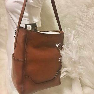 👜 NEW FRYE 👜 SIDE POCKET LEATHER HOBO